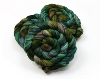 Merino Wool/ Silk Roving - Handpainted Roving for Spinning or Felting