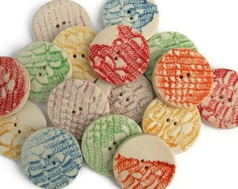 Lace Button - Round Buttons - Button Craft - Sewing Buttons - Buttons for Embroidery - Buttons For Bracelets - Price is per button