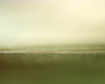 The Visible Air. Abstract seascape photo.  green sea photo. surreal. fine art photo. giclee