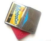 Credit Card Wallet, Credit Card Holder, Metro Card Holder, Card Holder - in WINTER GREY (No.1414)