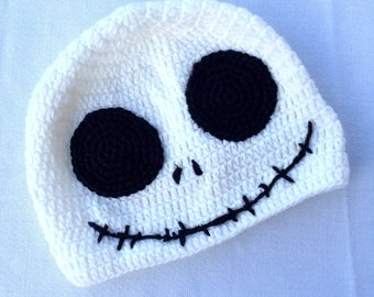 Knit crochet hat Inspired by The Nightmare Before Christmas  - Jack Skellington - Back to school