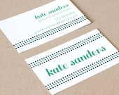 Personalized Business Cards / Calling Cards / Mommy Cards - DOTTED LINE