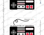 Print-INK Super Mario Bros. A La Carte Candy Bar Wraps - Classic Controller - Editable DIY Digital Printable PDF