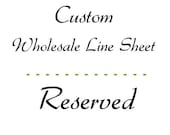 Custom line sheet order - color change
