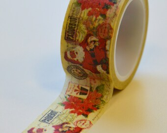 Washi Tape - 20mm - Santa Claus Paquebot Ship Mail Christmas - Deco Paper Tape No. 1028