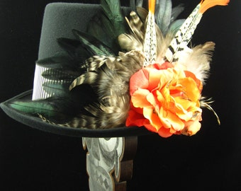 Voodoo 2 Top Hat, Day of the Dead/Halloween/Mardi Gras/Wedding/Cosplay Accessory