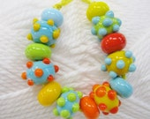Mexican Jumping Beads-Lampwork Beads in Fiesta Ole Colors