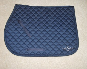 English Pony Saddle Pad-Embroidered Fancy Initial
