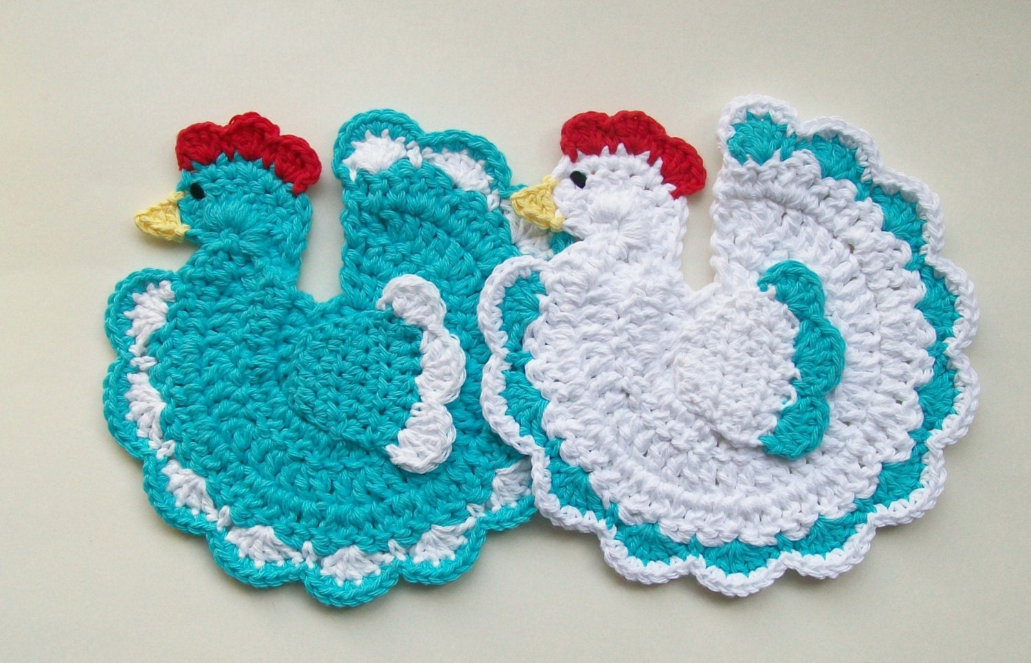 Free Crochet Pattern Rooster Pot Holder ~ Dancox for .