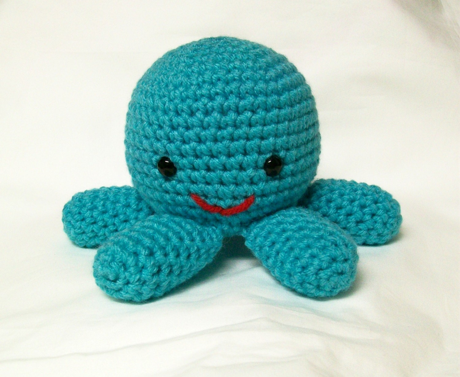 Octopus Stuffed Toy Plush Amigurumi Turquoise Aqua Blue