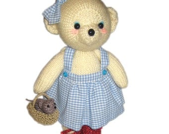 DOROTHY Bear with Toto Dog PDF Email Knit PATTERN