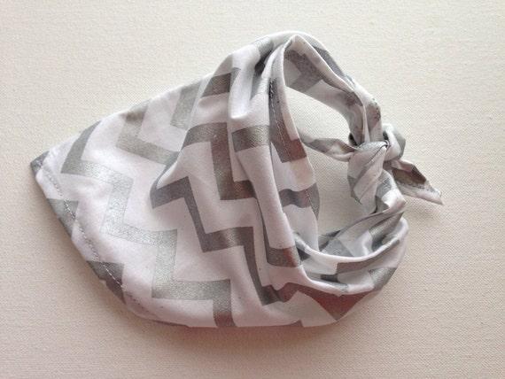 Poocci White & Silver | Dog Bandana