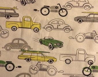 X-Large Sweet Bobbins Hanging Wet Bag - Retro Cars - 18x22 - SEAM SEALED - Boutique Quality