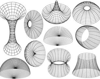 Geometric Vortexes Ceramic Decals, Glass Decals or Enamel Decals