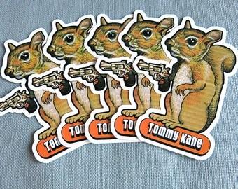 5 Squirrel Stickers