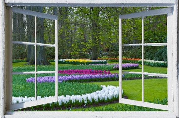Offenes fenster zeichnen  Wand Wandbild Fenster selbstklebende Holland offenes