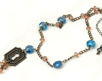 Steampunk Antique Keyhole Necklace