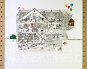 Art Print // House of Fun // 11X14 or 16X20 // Archival art print, signed and dated by artist
