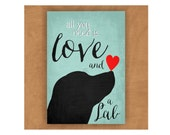 Lab Magnet, Labrador Retriever, Labrador Magnet, Love and a Lab, All You Need is Love and a Lab, Dog Lover Gift, Lab Lover Gift