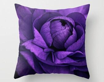 Purple Flower  16 x16 Pillow Cover