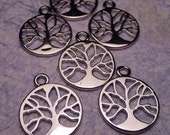 Silver Tree of Life Charm 15mm - 2pc