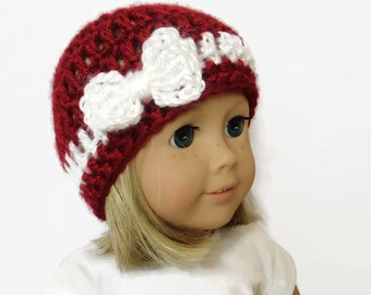 Doll Hat - 18 Inch Doll Clothes - Christmas Doll Hat
