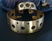 Steampunk, Close out Brass Cuff Supply, See Picture Of Great Way To Use, Top Will Be Polished Not Just Raw Brass, USA Metals, Limited Supply