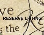 Reserve Listing for Teri