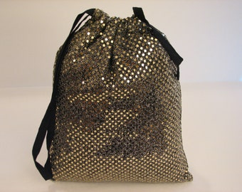 Dance Shoe Bag, Gold, Women's