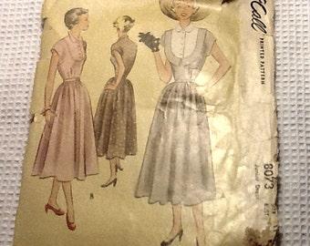 1950s McCall 8073 Dress Pattern