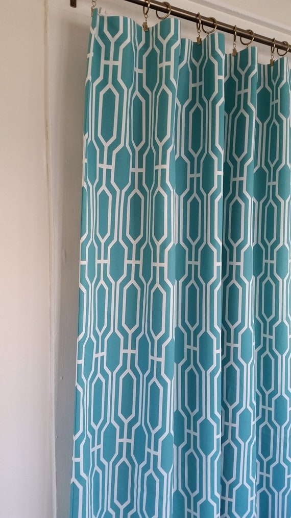 Fabric Shower Curtain Covington Harland Peacock 72