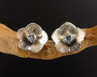 Flax Sterling Silver Earrings Handmade Metalwork