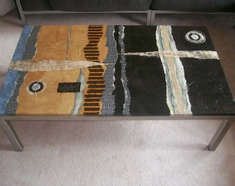 Handpainted coffee table
