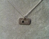 """small """"f*ck"""" -- Stamped Sterling Silver Pendant/Necklace -- or custom word (mature language)"""