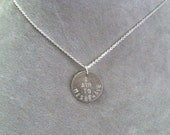 "Serenity firefly ""I aim to misbehave"" necklace-- geek girl collection -- sterling silver"