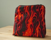 Cosmetic Bag with Flame Design