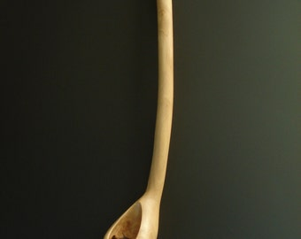 PEDESTAL  hand carved wooden spoon by Spoontaneous, wood spoon, wood carving, art spoons, spoon, carved spoon, carved wooden spoon