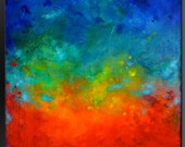 Splatter - 36 x 36 - Abstract Acrylic Painting on Canvas- Original Fine Art Contemporary- Huge Wall Art - Large Painting Original