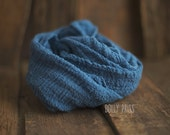 Photography Wrap - Organic wrap - Baby Wrap - Newborn Wrap - Photography prop - BLUE JAY - Layer - Rustic - Organic