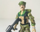 GI Joe Action Figure - Leatherneck - 1980s Toy - Soldier / Marine Action Figure - Camouflage Green