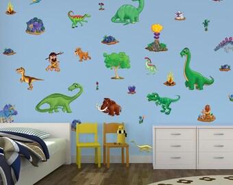 Small Children's Dinosaur Wall Stickers Scene
