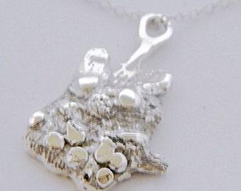 925 Sterling  Silver Dormouse Pendant  Necklace