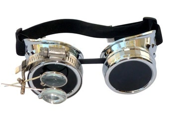 Steampunk Goggles Airship Captain Apocalyptic Mad Scientist Victorian Limited CS D