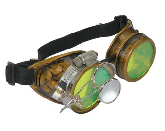 Steampunk Goggles Airship Captain Apocalyptic Mad Scientist Victorian Limited CG Lg