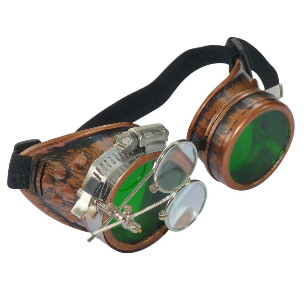 Steampunk Goggles Airship Captain Apocalyptic Mad Scientist