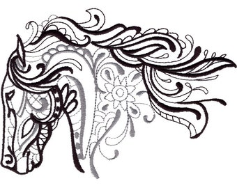 HORSE - Machine Embroidered Quilt Blocks (AzEB)
