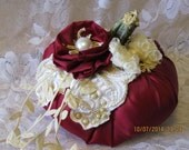 Shabby Chic Pumpkin in Burgundy