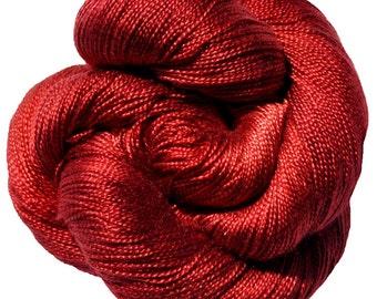 Scarlet - Dryad 100% Tencel Hand Dyed Yarn 5/2