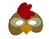 Children's Brown CHICKEN Farm Animal Felt Mask
