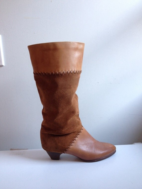 Blundstone Tall Boot 70s Brown Leather Boots Tall